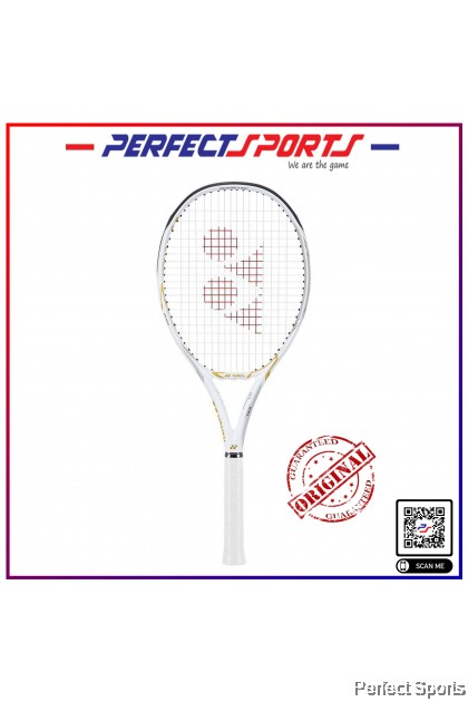 [Free String+Grip+Cover] Yonex Limited Edition EZONE 100 White and Gold Tennis Racquet